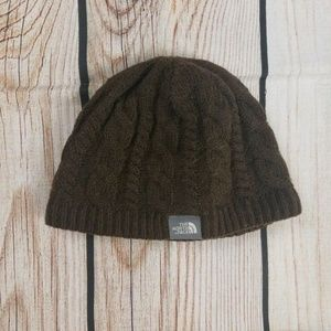 bc4191e440577 The North Face Accessories - The North Face Brown Cable Knit Wool Blend Hat